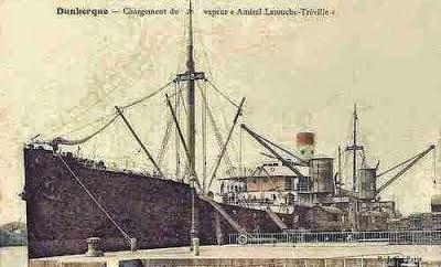 Hình chụp tàu buôn Amiral Latouche-Tréville, tại cảng Dunkerque.  Nguồn: Cục Hành Hải France.
