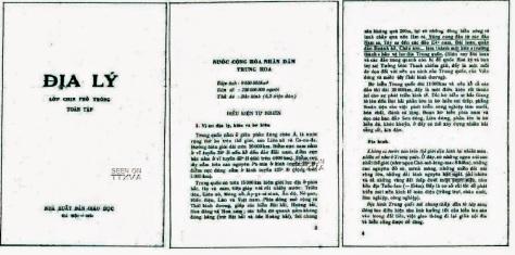 """Cho thấy đảng và """"Bác"""" quá bất lương đã là thủ phạm cướp bán nước Việt Nam. Nguồn: NXB giáo dục Hà Nội 1974."""