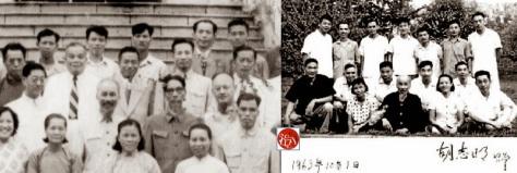 Những y sĩ Trung Quốc phục vụ sức khoẻ cho Hồ tại Việt Nam, họ thay từng ca năm một, chụp ảnh chung với Hồ mỗi khi họ trở lại quê nhà. Nguồn: Tài liệu ảnh lưu: Huỳnh Tâm.