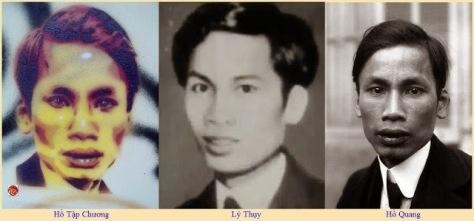 Thời thanh niên những tên gián điệp Trung Cộng mang tên Hồ Tập Chương, Lý Thụy, Hồ Quang (Lý Duệ) cùng thực hiện chung một vở kịch giả danh Nguyễn Ái Quốc. Nguồn: Tài liệu Huỳnh Tâm.