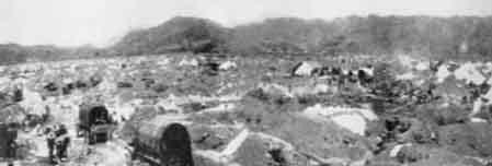 Trại binh Trung Quốc tại Lào Cai Việt Nam. Nguồn: Tân Hoa Xã.