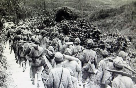 Quân đội Giải phóng Nhân dân Trung Quốc đang trên lộ trình tiến đến tỉnh Thái Nguyên Việt Nam, tất cả theo lệnh của Hồ Chí Minh, đã phối trí địa chỉ mật cho quân trú phòng, theo mật mã. Nguồn: Hoa Nam.