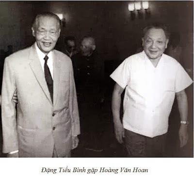 Dự  kiến Trung Quốc sẽ đưa Hoàng Văn Hoan kế nhiệm khi Hồ Chí Minh