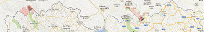 Những cuộc gây hấn nhỏ đến giao tranh tại Kim Bình tỉnh Lai Châu, Hà Khẩu (河口) Hồng Hà, tỉnh Lào Cai - Nguồn bản đồ: Maps Google.