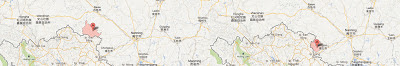 Tĩnh Tây (靖西Jingxi), Bách Sắc tỉnh Cao Bằng, và Long Châu (龙州Longzhou) Sùng Tả tỉnh Cao Bằng - Nguồn bản đồ: Maps Google. [2]