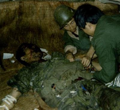 Sĩ quan Sư đoàn 67 Trung Quốc bị tử thương. Ảnh: NF3.86.