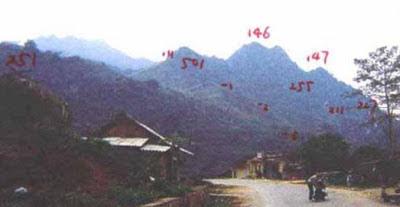 Trước ngày 4/12/1987, quân Trung Quốc còn mở vòng đai phòng ngự các núi 215, 501,146, 147,255, 211, 267, 277, 1, 2, 3, và 4. Ảnh: Hải Âu DF-1, F138.