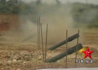 Pháo binh Trung Quốc ngụy trang, chôn lấp pháo dưới giao thông hào, tại căn cứ 255. Ảnh: Hải Âu DF-1, F138.