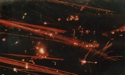 Mỗi đêm, pháo binh Việt Nam-Trung Quốc thi nhau đốt cháy vùng núi Lão Sơn. Ảnh: NF3.86.