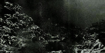 Binh lính của quân đội Việt Nam tử vong và bị thương tại những núi đất 48, 49, 50, 604, 605, 832, 968, 1058, bị quân Trung Quốc chôn vùi cùng một giao thông hào. Ảnh: Hải Âu (海鸥DF-1, Q27).