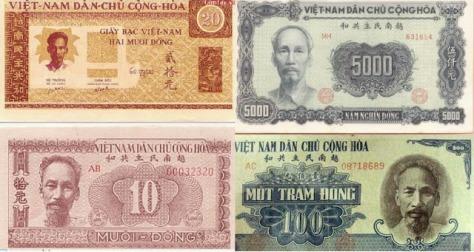 Đồng tiền Việt Nam vào thời Hồ Chí Minh và sau này vẫn do một bộ phận tài chính của tình báo Hoa Nam kiểm soát. Tài chính Hà Nội lưu trữ (Hoa Nam).