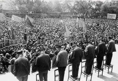 """Trung ương đảng Cộng Sản Trung Quốc (CPC) đưa Lý Tuyết Phong (李雪峰) ra trước cuộc """"Cách mạng Văn hóa""""' chính thức bùng nổ thanh trừng nội bộ."""