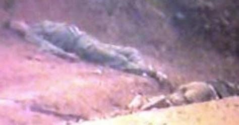 Quân đội nhân dân Trung Quốc tử vong tại đầu nguồn sông Lô lãnh thổ Việt Nam. Nguồn Ảnh: Hoa Chí Cường.
