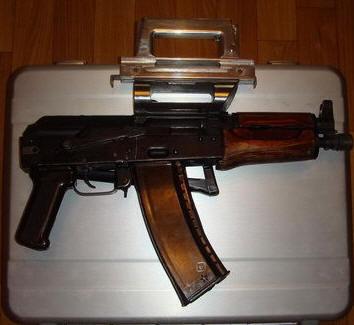 Khẩu súng AKS-74U của Hồ Tập Chương. Nguồn: Nhất Biến.