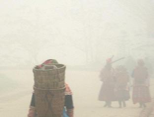 """Người dân trên đường về """"Tây Hành làng"""" Ảnh: La Minh"""