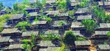 """""""Tây Hành làng"""" trên dãy núi Pu Si Lung. Ảnh: La Minh"""
