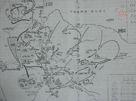 Bản đồ toàn diện chiến tranh Đông Dương lần thứ 3 (Phụ bản. Trương Hoán Tùng cung cấp)