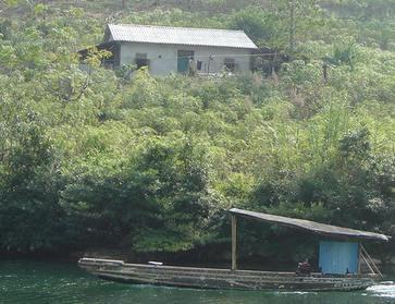 Đồn bót biên phòng của Trung Quốc trên khu vực sông Nậm Ma