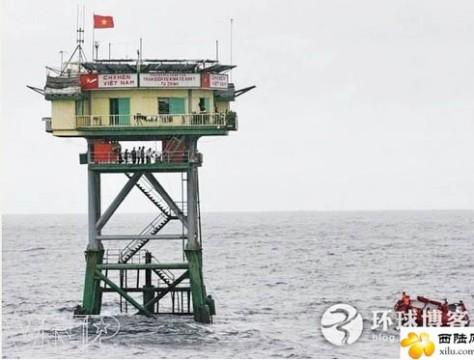 Nhà giàn ký hiệu DK16 tại thềm lục địa phía Nam của Việt Nam. Nguồn: tài liệu Huỳnh Tâm.
