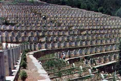 Nghĩa trang Ma Lật Pha (Malipo) tỉnh Vân Nam Trung Quốc, thành lập vào năm 1979, hoàn thành năm 1988, diện tích 50 mẫu Anh. Nguồn: Tài liệu Huỳnh Tâm.