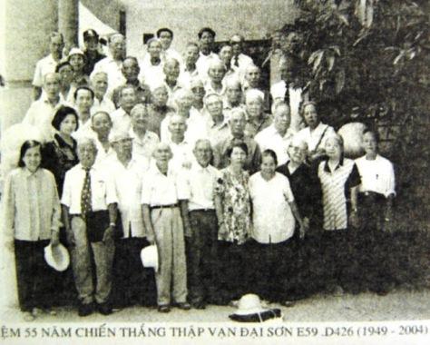 """Những cảm tử quân """"Thập Vạn Đại Sơn"""" của quân đội Trung Cộng theo Hồ Chí Minh tham chiến tại Việt Nam, sau này họ là những cựu chiến binh Trung Cộng ở lại Việt Nam. Nguồn: tài liệu Huỳnh Tâm."""