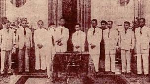 Nội các Trần Trọng Kim (loan tải trên báo Trung Bắc Chủ Nhật 20/5/1945, Thư viện Quốc gia Pháp).