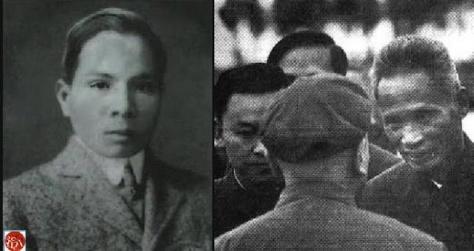 Trương Bội Công (Zhang Peigong-张佩公), Thiếu tướng Nguyễn Sơn bí danh Vũ Nguyên (Wu Yuan-武元). Nguồn: tài liệu Huỳnh Tâm.