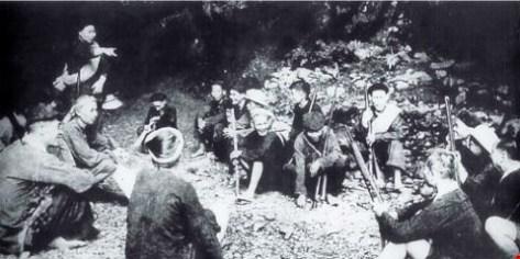 Trung đội Cứu quốc quân thành lập năm 1941 tại chiến khu Bắc Sơn, tỉnh Lạng Sơn. Nguồn: Tài liệu Huỳnh Tâm.