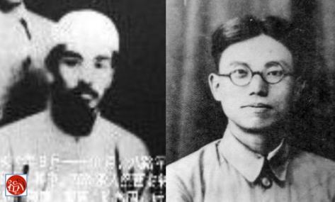 Hồ Chí Minh và Tả Hồng Đào (左洪濤). Nguồn: Tài liệu Huỳnh Tâm.
