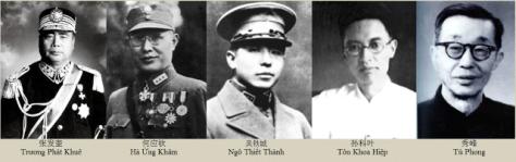 Năm tướng lãnh hùng mạnh nhất của Quốc Dân Đảng Trung Quốc. Photo lưu trữ: Huỳnh Tâm.