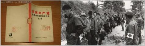 """Cuốn sách hành động Hồ Chí Minh """"sinh Bắc tử Nam"""". Ngày nay Đại tướng nướng quân Văn Tiếng Dũng thực hiện lùa thanh niên ra chiến trường Lão Sơn. Nguồn: Tài liệu ảnh lưu: Huỳnh Tâm."""
