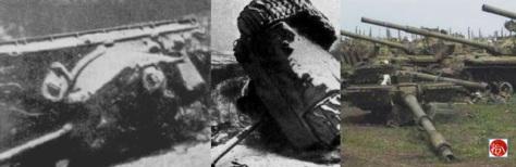 Việt Cộng đánh mười ba kíp mìn định hướng lật ngửa được vô số xác xe tăng Trung Cộng. Nguồn: Tài liệu ảnh lưu: Huỳnh Tâm.