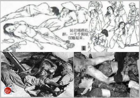 Lực lượng đặc biệt của Trung Cộng xâm phạm tiết trinh và thủ tiêu các nữ tù binh Việt Nam. Nguồn: Tài liệu ảnh lưu: Huỳnh Tâm.